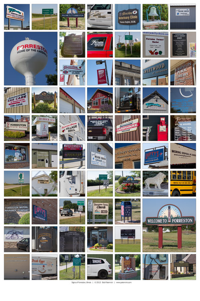 Town Sign Posters