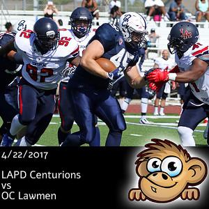 2017-04-22 LAPD Centurions vs OC Lawmen