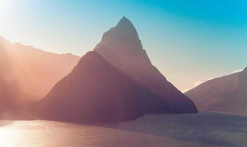 Mitre Peak in Evening Light