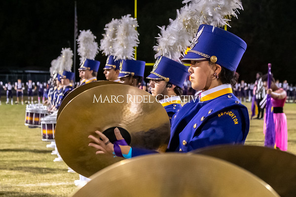 Broughton varsity football vs Cardinal Gibbons. Band and Dance Team Senior Night. October 25, 2019. MRC_3685
