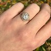 1.97ctw Antique Cluster Ring, GIA G SI2 27