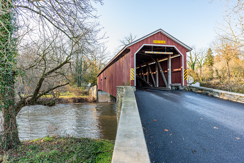 Hunsecker's Mill Covered Bridge Spanning the Conestoga Creek