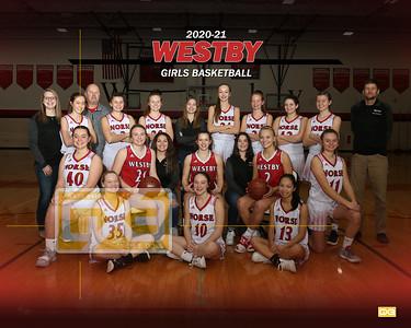 Westby girls basketball GBB2021