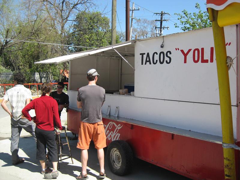 Tacos on the way to El Salto