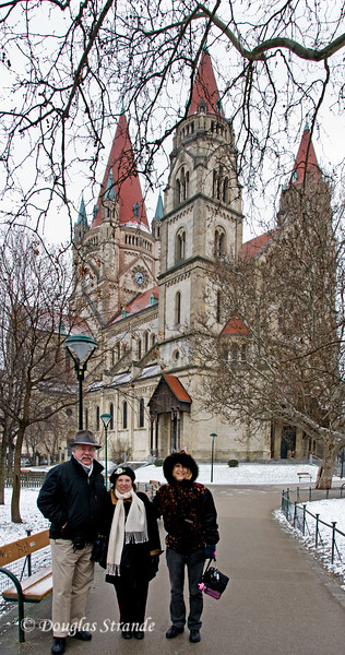 Jerry,Louise & June at the Saint Francis of Assisi Church in Vienna (aka Mexican Cathedral)