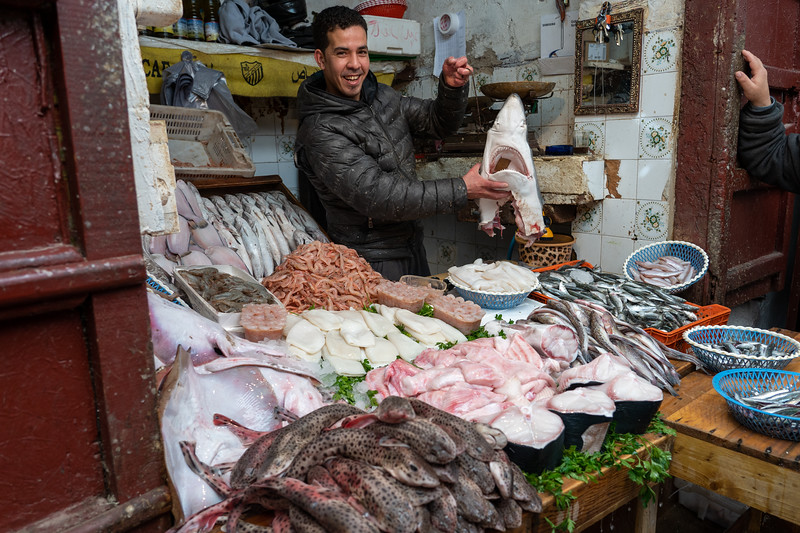 Seafood in the Fes Medina