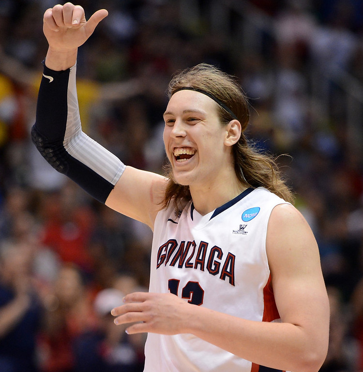 . 12.) Oklahoma City Thunder -- Kelly Olynyk, power forward/center, Gonzaga -- Kevin Durant and Russell Westbrook need some inside offensive help. Olynyk�s a 7-footer who is able to score in the paint and from the perimeter.   (Photo by Harry How/Getty Images)