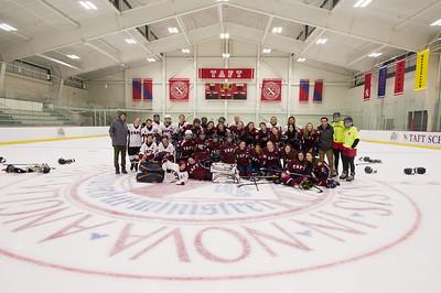 2/15/18: Girls' Thirds Hockey v Female Faculty