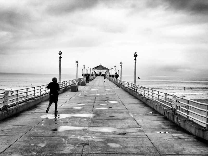A post rain morning on the Manhattan Beach Pier