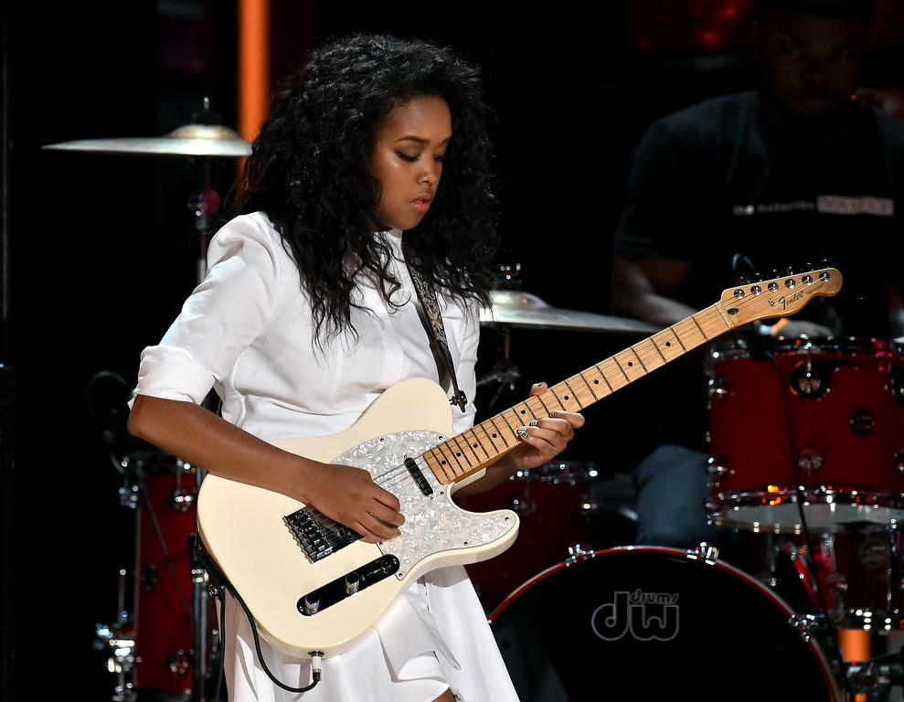 . Musician Gabi Wilson performs onstage during the BET AWARDS \'14 at Nokia Theatre L.A. LIVE on June 29, 2014 in Los Angeles, California.  (Photo by Kevin Winter/Getty Images for BET)