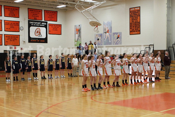 1/23/2013 Lady Hubbers vrs Lady Panthers