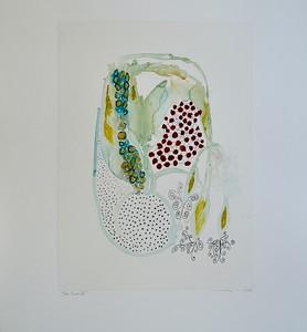 "Deco Series IX-Mackey, painting on 22""x30"" paper"