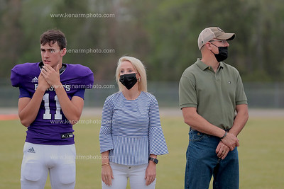 West Bladen 4/9/21 football senior night before and after