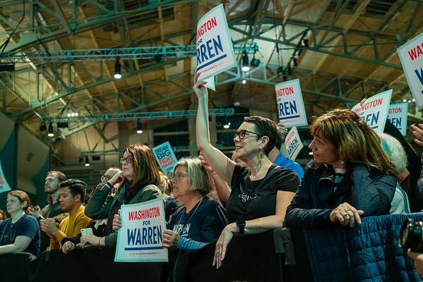 Elizabeth Warren at Seattle Center