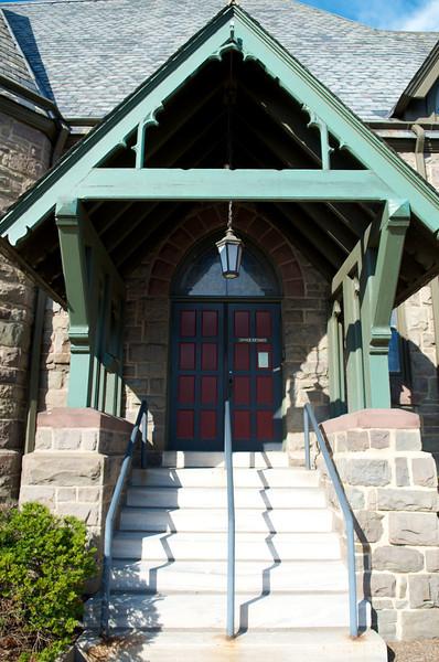 Church side doors.