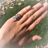 2.50ctw Geometric Old Mine Cut Diamond Dinner Ring 3