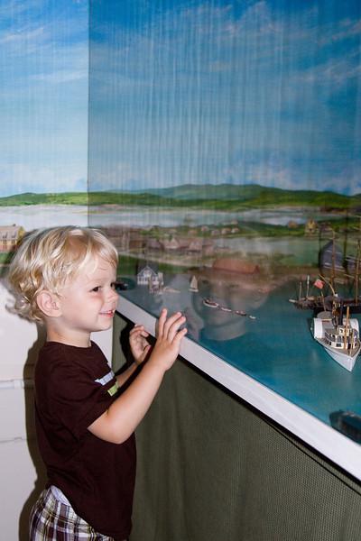 Model of Woods Hole Harbor