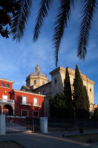 Corpus Christi church (right), work by the architect Vicente Traver (1935), Paseo de la Palmera, Seville, Spain