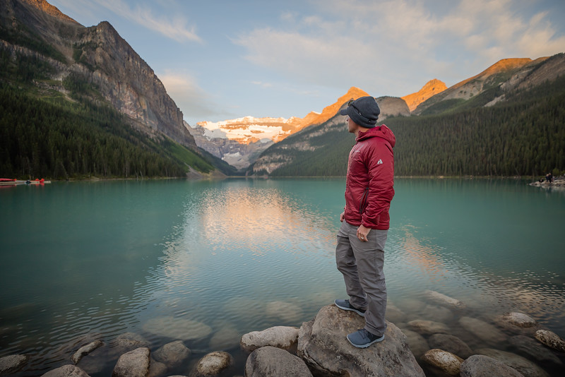 Sunrise at Lake Louise, Alberta