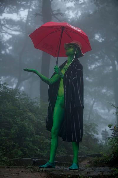 Alec Haavik as the Lizard, 2014 Moganshan