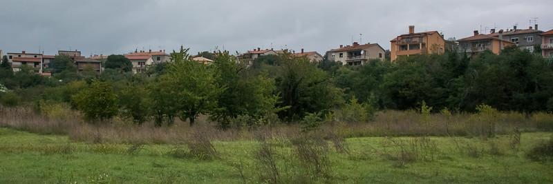 Vesna's land behind her home