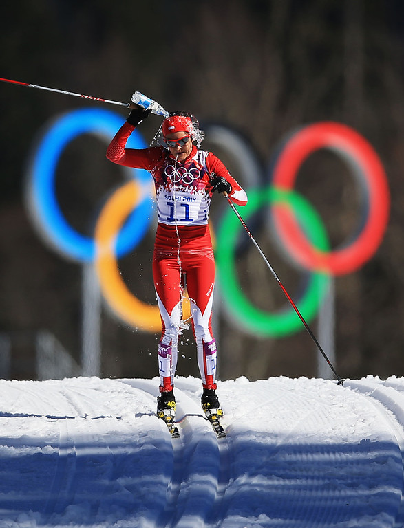. Paulina Maciuszek of Poland competes in the Women\'s 10 km Classic during day six of the Sochi 2014 Winter Olympics at Laura Cross-country Ski & Biathlon Center on February 13, 2014 in Sochi, Russia.  (Photo by Richard Heathcote/Getty Images)