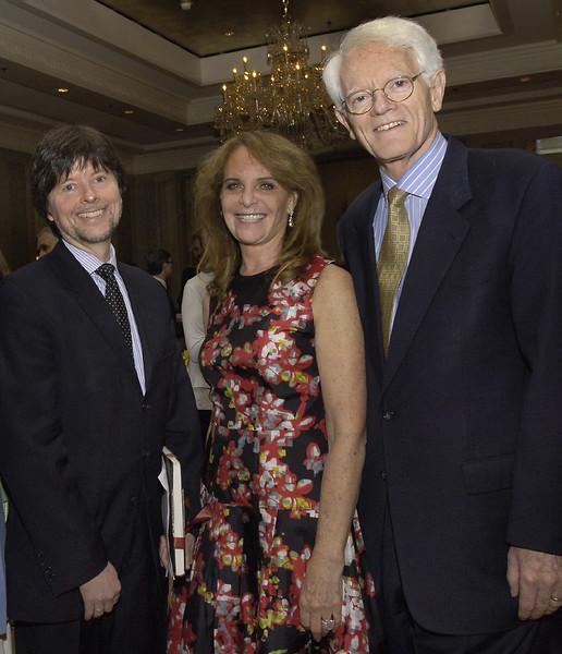 Ken Burns, honorary event chair NEHGS Vice Chair Carolyn Lynch, and Peter Lynch