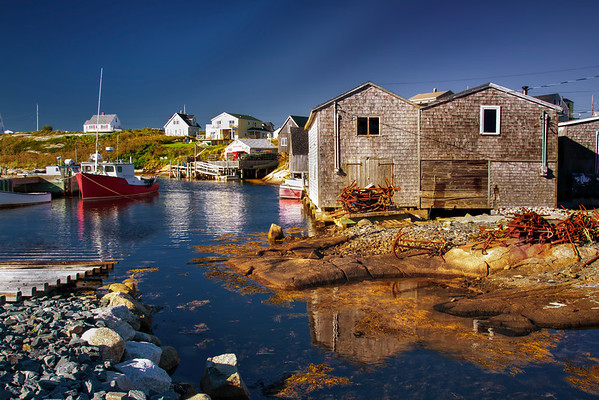 Peggy's Cove Harbor Area