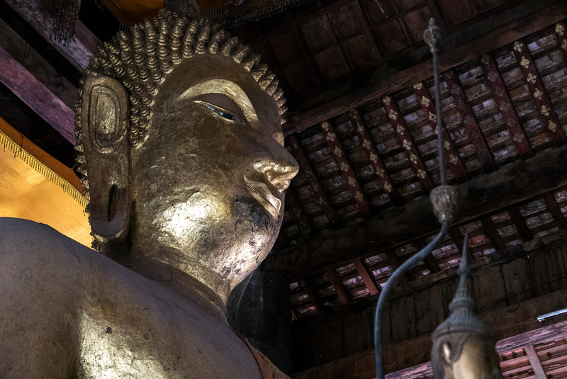 Buddha statue in temple, Luang Prabang, Laos