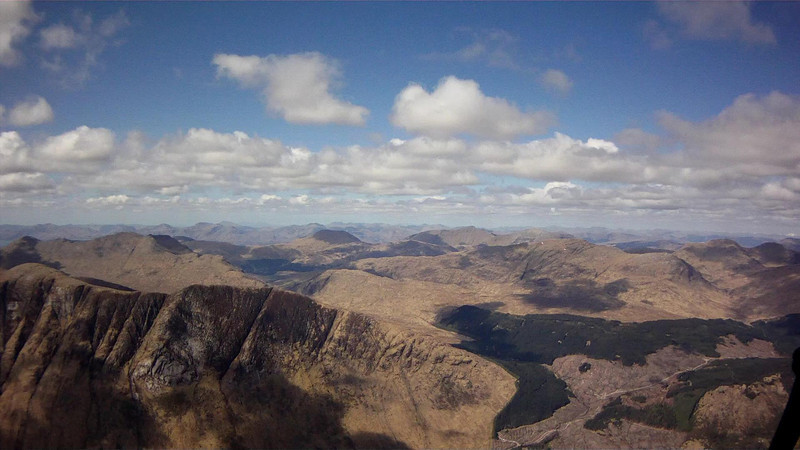 Looking over towards Etive slabs ..... cool friction climbing.
