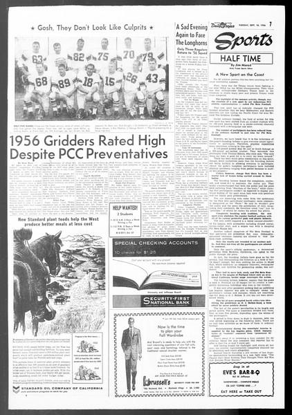 Daily Trojan, Vol. 48, No. 1, September 18, 1956