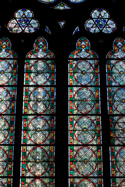 Stained Glass Windows Notre Dame — Paris, France — May 2009