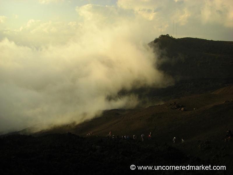 Clouds at Pacaya Volcano, Guatemala