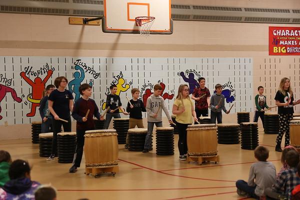 Teiko  Drumming at Fisher Elementary School. 031320