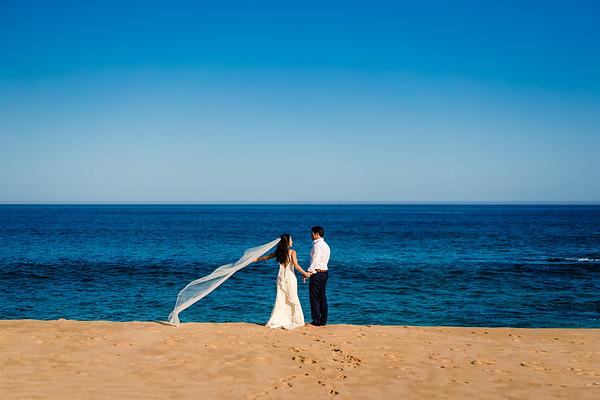 Sunset Monalisa wedding. L & T