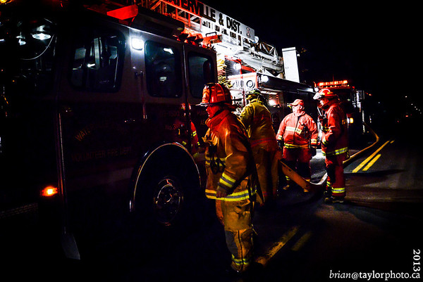 Garage Fire Black Rock Rd. Grafton. Jan12, 2013