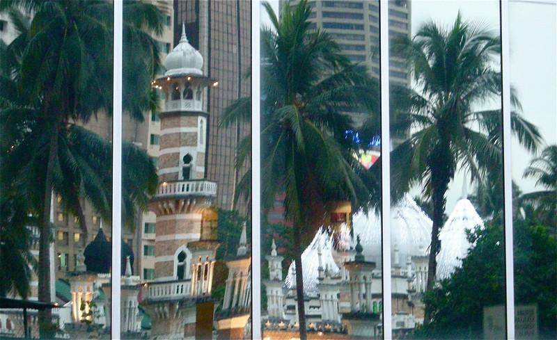 Masjid Jamek reflection in Kuala Lumpur