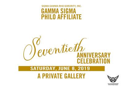 Gamma Sigma Philos 70th Anniversary Celebration