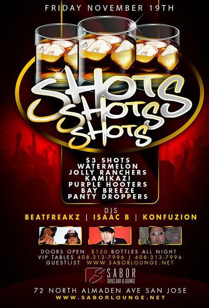 Shots Shots Shots @ SABOR Tapas Bar & Lounge 11.19.10