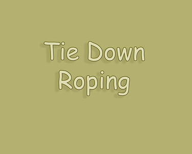 Patricia Rodeo 2018 Tie Down Roping
