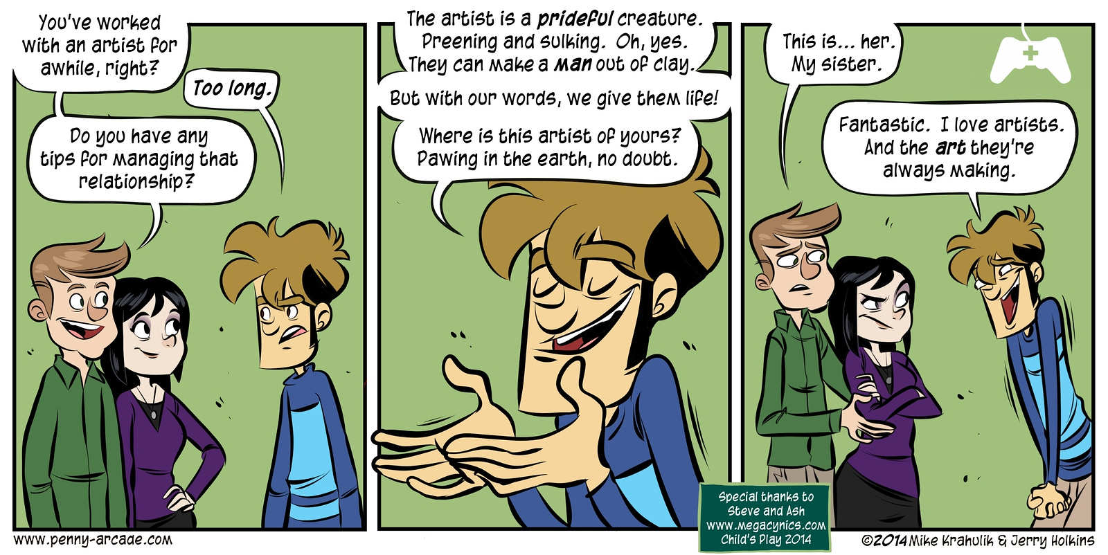 Child's Play Strip: MegaCynics