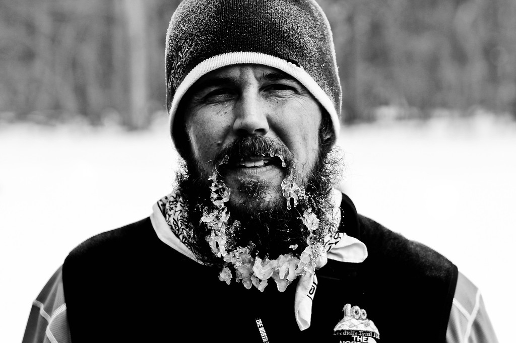 """1/17/12<br /> <br /> Regis Jr. showing what happens when you have a beard and run 31 miles in sub 30 degree weather....<br /> <br /> """"Seize opportunity by the beard, for it is bald behind.""""<br />  <br /> ~ Bulgarian Proverb"""