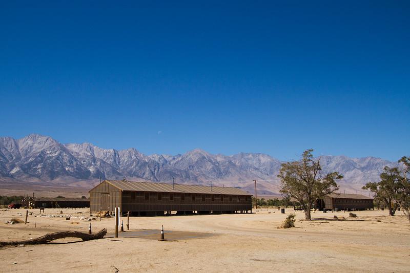 Manzinar reproduction barracks