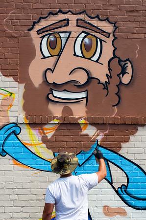 Mural Painting at Jerry's Artarama