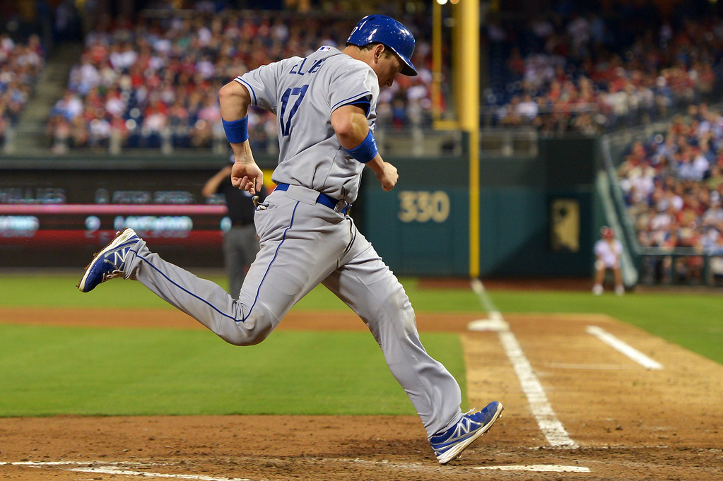 . PHILADELPHIA, PA - AUGUST 16: A.J. Ellis #17 of the Los Angeles Dodgers scores a run in the seventh inning against the Philadelphia Phillies at Citizens Bank Park on August 16, 2013 in Philadelphia, Pennsylvania. The Dodgers won 4-0. (Photo by Drew Hallowell/Getty Images)
