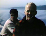 1948 Lake Nipigon, Nipigon, Ontario Morrie with guide.