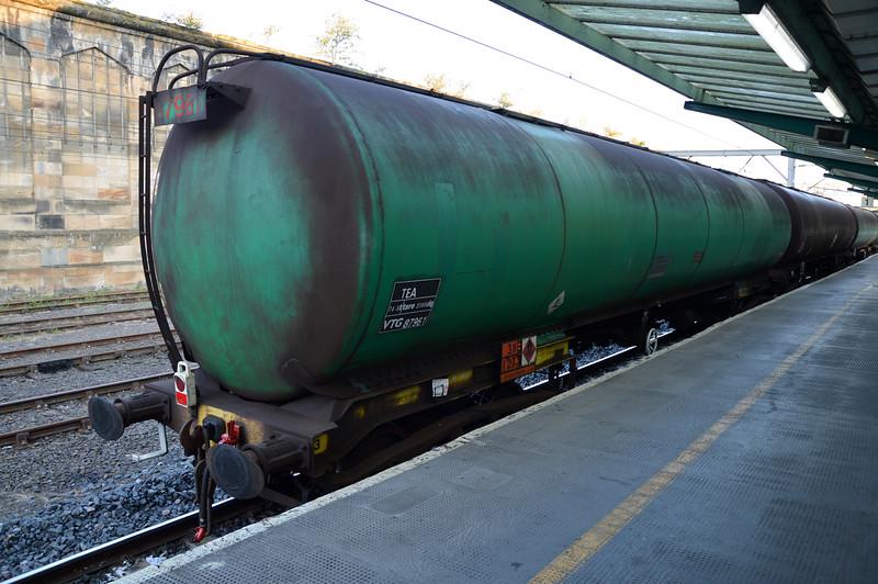 TEA 87961 in the consist of the Dalton-Carlisle rake at Carlisle  25/07/14.