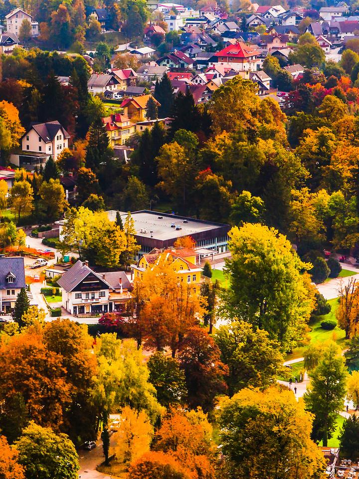 斯洛文尼亚布莱德(Bled),小城之秋