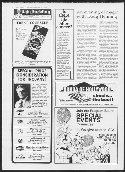 Daily Trojan, Vol. 97, No. 6, September 11, 1984