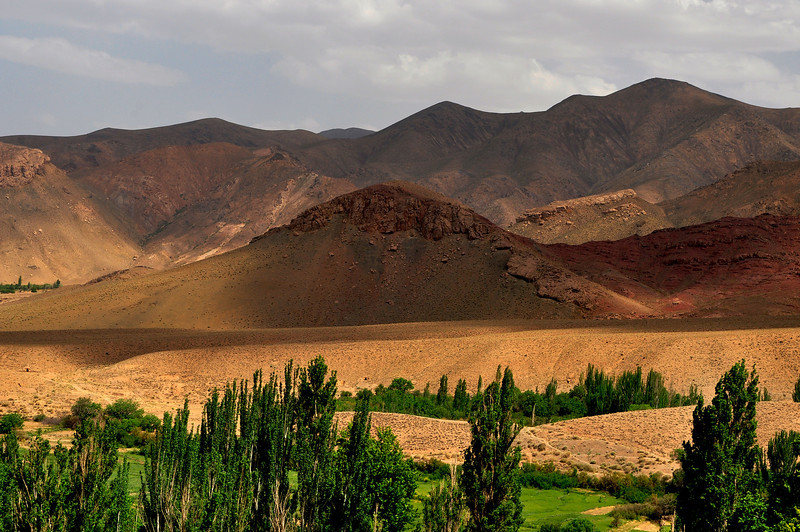 Deep Colors of Karkas Mountains, Abyaneh Iran.
